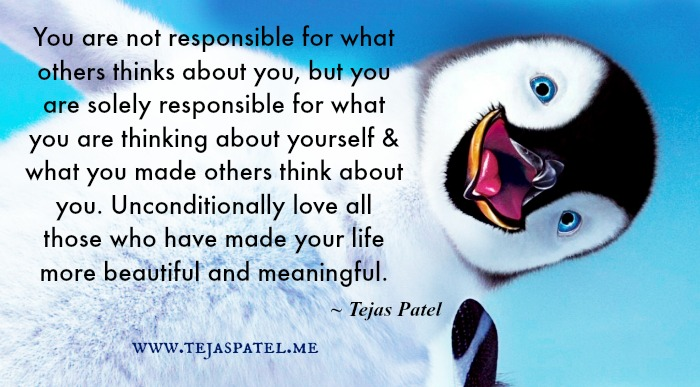 You are not responsible for what others thinks about you