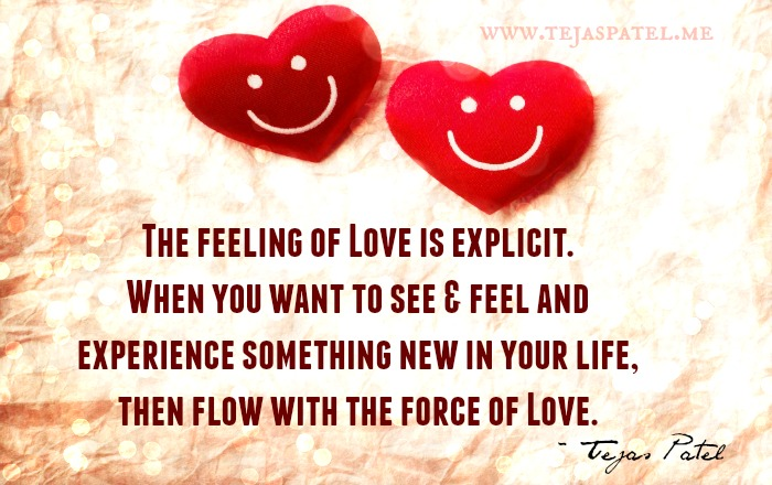 The Feeling of Love is Explicit